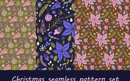 Christmas seamless pattern with fir tree Stock Images