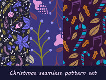 Christmas seamless pattern with fir tree Royalty Free Stock Images