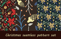 Christmas seamless pattern with fir tree Stock Photo