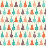 Christmas seamless pattern with fir trees Royalty Free Stock Photo