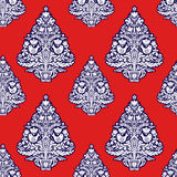 Christmas seamless pattern in folk style. Royalty Free Stock Image