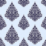 Christmas seamless pattern in folk style. Royalty Free Stock Photography