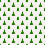 Christmas seamless pattern with geometrical fir-trees. Christmas seamless pattern with geometrical paper fir-trees on light background. Winter holidays design Stock Images