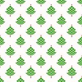 Christmas seamless pattern with geometrical fir-trees. Royalty Free Stock Photography