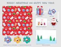 Christmas seamless pattern. Good for wrapping that can later be reused for cutting decoration and for your creative ideas. stock illustration