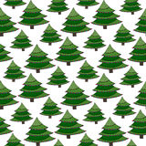 Christmas seamless pattern. Green vector wrapping texture with New Year tree. Bright background for holiday decoration Stock Image