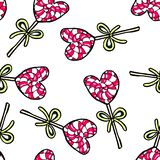 Christmas seamless pattern hand-drawn. New Year candy on a white background.Happy new year. Lollipop drawing heart illustration design card decoration wallpaper royalty free illustration