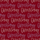 Christmas seamless pattern with handwritten text on red background. Vector illustration for New Year wrapping paper or textile des Royalty Free Stock Photography