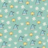 Christmas seamless pattern. Happy new year stock illustration