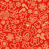 Christmas seamless pattern. Holiday background. Royalty Free Stock Images
