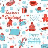 Christmas seamless pattern Stock Photo