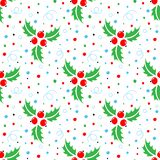 Christmas seamless pattern of christmas holly royalty free illustration