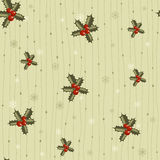 Christmas seamless pattern with holy Stock Image