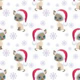 Siamese cat pattern stock illustration