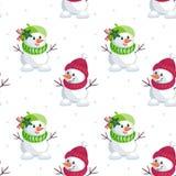 Little cute snowmen Royalty Free Stock Photography