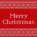 Knit Christmas seamless pattern. Knitted texture. Vector illustr Royalty Free Stock Photos