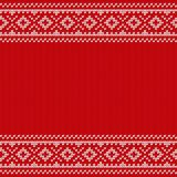 Knitting Christmas seamless pattern. Knitted texture. Vector ill Royalty Free Stock Image