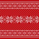 Knitting scandinavian texture. Knit Christmas seamless pattern. Stock Images