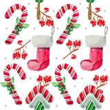 Christmas seamless pattern Lollipop candy Royalty Free Stock Photography