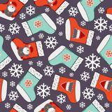 Christmas seamless pattern. Merry Christmas design. It can be used for wallpaper, web page and others. Vector illustration. Christmas seamless pattern. Merry royalty free illustration