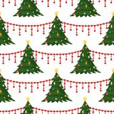 Christmas seamless pattern Merry Christmas and Happy New Year winter holiday background decorative paper vector. Illustration. Festive textile xmas abstract Royalty Free Stock Photo