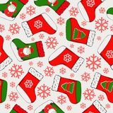 Christmas seamless pattern. Merry Christmas design. It can be used for wallpaper, web page and others. Vector illustration. Christmas seamless pattern. Merry stock illustration