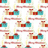Christmas seamless pattern Merry Christmas and Happy New Year winter holiday background decorative paper vector. Illustration. Festive textile xmas abstract Royalty Free Stock Photos