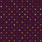 Christmas seamless pattern from multicolored snowflakes on background Stock Photography