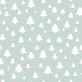 Christmas Seamless Pattern with New Year Tree. Happy Winter Holi Stock Photography
