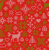 Christmas Seamless Pattern. Nordic style. Vector ornament Royalty Free Stock Photography