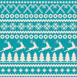 Christmas seamless pattern in the nordic style Stock Photos