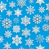 Christmas seamless pattern with paper snowflakes Stock Images
