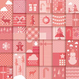 Christmas seamless pattern. Patchwork style Royalty Free Stock Photo