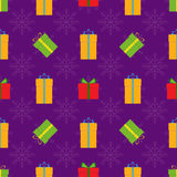 Christmas seamless pattern. With presents of different colours Stock Photography