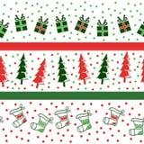 Christmas Seamless Pattern Royalty Free Stock Photo