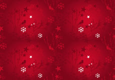 Christmas seamless pattern in red grunge colors Stock Photo