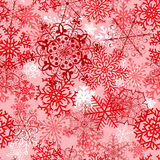 Christmas seamless pattern with red snowflakes Royalty Free Stock Photo