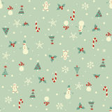 Christmas seamless pattern. In retro style Stock Images