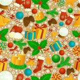 Christmas seamless pattern. Stock Photography