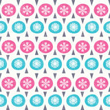 Christmas seamless pattern in retro style Royalty Free Stock Photo