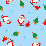 Christmas seamless pattern with Santa Claus Royalty Free Stock Photo