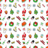 Christmas Seamless Pattern with Santa Claus. Merry Christmas and Happy New Year 2017 Seamless Pattern with Christmas Tree and Santa Claus. Winter Holidays Royalty Free Stock Images