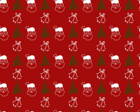 Christmas seamless pattern with Santa Claus . Stock Photography
