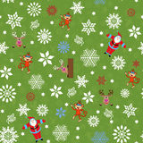 Christmas seamless pattern with Santa and others Royalty Free Stock Images