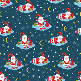 Christmas seamless pattern with Santa Royalty Free Stock Photos