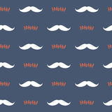 Christmas seamless pattern with Santa's mustache and Ho Ho Ho Royalty Free Stock Photography