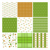 Christmas seamless pattern set. Nine vector seamless patterns for Christmas stock illustration