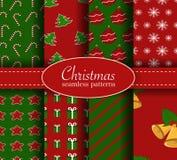 Christmas seamless pattern set Royalty Free Stock Photo