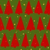Christmas seamless pattern. Simple retro pattern of christmas tree Royalty Free Stock Image