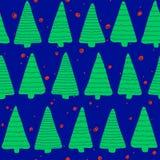 Christmas seamless pattern. Simple retro pattern of christmas tree Royalty Free Stock Photos
